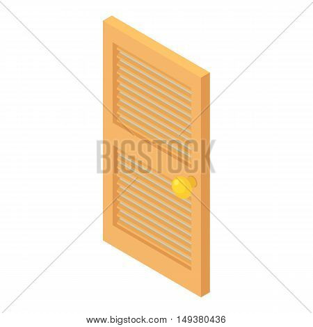 Interior wooden door icon in cartoon style isolated on white background. Protection of home symbol vector illustration
