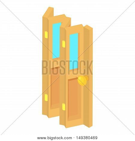 Door accordion icon in cartoon style isolated on white background. Interior symbol vector illustration