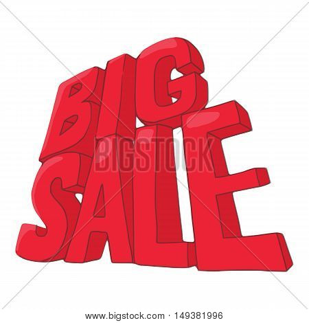 Big sale icon in cartoon style isolated on white background. Purchase symbol vector illustration