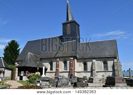 Bosc Bordel France - june 23 2016 : the Saint Jean Baptiste church