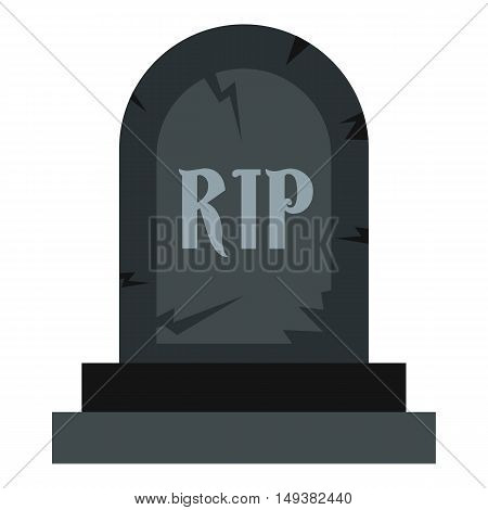 Grave RIP icon in flat style isolated on white background. Death symbol vector illustration