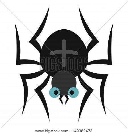 Spider icon in flat style isolated on white background. Insect symbol vector illustration