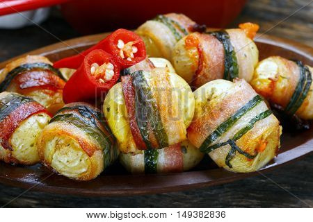 bacon wrapped stuffed