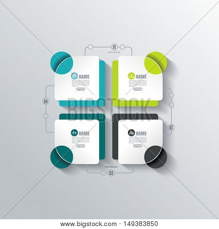 Modern Design Minimal Style Infographic Template Layout. Infographics, Numbered Banner, Advertising