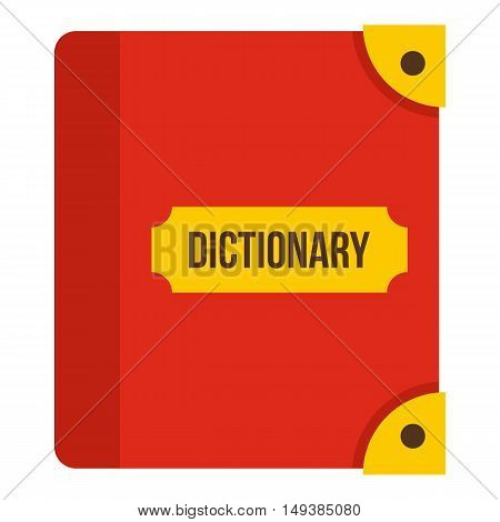 Book dictionary icon in flat style isolated on white background. Training symbol vector illustration