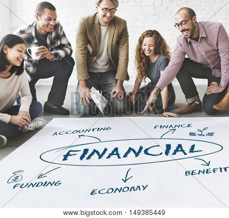 Financial Income Economic Diagram Money Concept