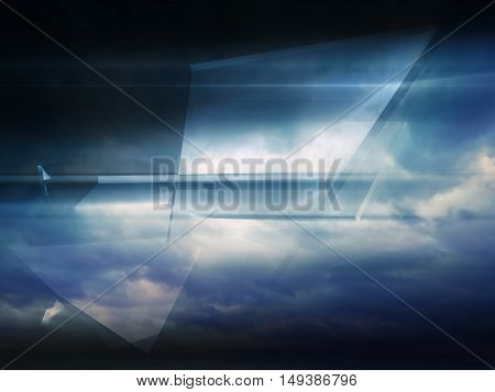 Abstract Digital Background, Shining Polygons