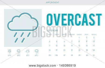 Overcast Forecast Weather Rainy Cloud Concept
