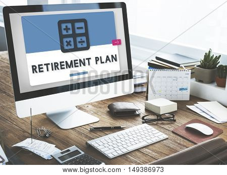 Retirement Plan Accounting Calculating Concept