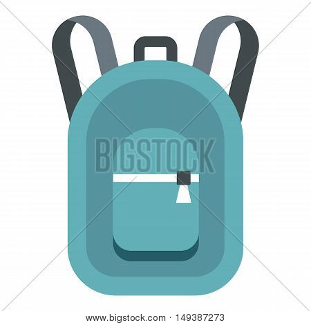 Backpack icon in flat style isolated on white background. Bag symbol vector illustration