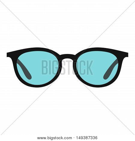 Glasses icon in flat style isolated on white background. Sun protection symbol vector illustration