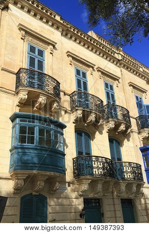 Old Balcony  In Valletta, Malta