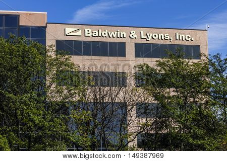 Carmel - Circa September 2016: Baldwin & Lyons headquarters, underwriters of property and casualty insurance I