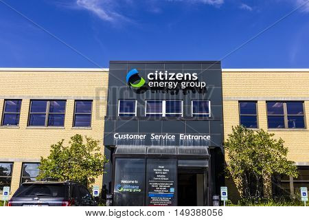 Indianapolis - Circa September 2016: Citizens Energy Group a broad-based utility service company I