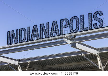 Indianapolis - Circa September 2016: Indianapolis Motor Speedway Gate 1 Entrance. IMS Hosts the Indy 500 and Brickyard 400 Auto Races V