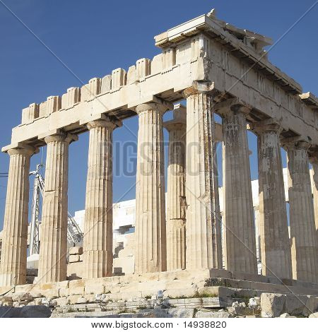 a view of Parthenon temple Acropolis