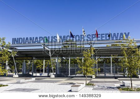 Indianapolis - Circa September 2016: Indianapolis Motor Speedway Gate 1 Entrance. IMS Hosts the Indy 500 and Brickyard 400 Auto Races VII