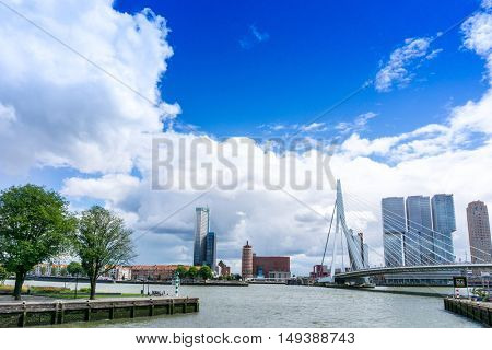 ROTTERDAM, Netherlands - August 10 : Street view of Port of Rotterdam, the nickname