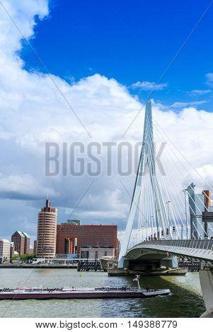 ROTTERDAM, Netherlands - August 10 : Street view of Port of Rotterdam, the nickname