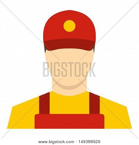 Courier icon in flat style isolated on white background. Job symbol vector illustration