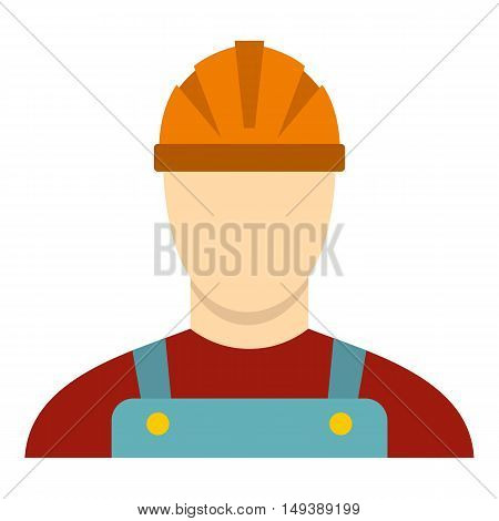 Builder icon in flat style isolated on white background. Job symbol vector illustration