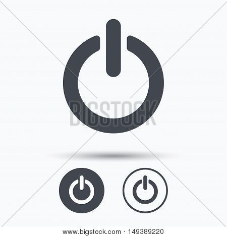On, off power icon. Energy switch symbol. Circle buttons with flat web icon on white background. Vector