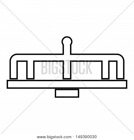 Swing icon in outline style isolated on white background. Entertainment symbol vector illustration