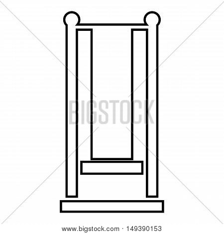 Standing swing icon in outline style isolated on white background. Entertainment symbol vector illustration