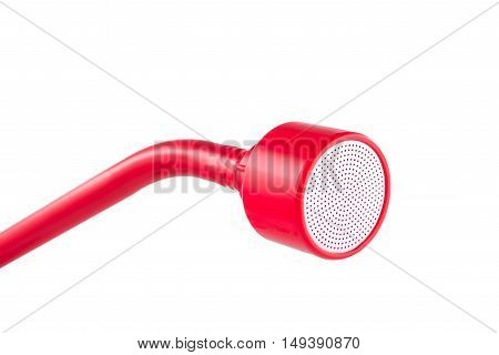 Red watering nozzle isolated on white background