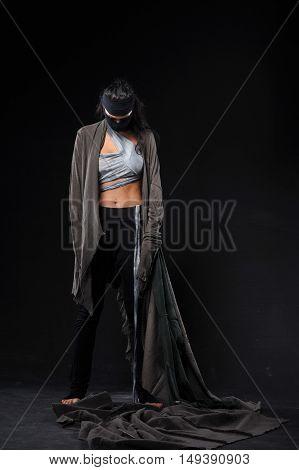warrior figher women dressed different style in studio