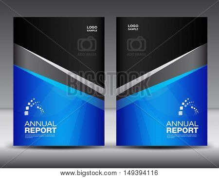 Blue Cover design, annual report ,business brochure flyer ,magazine cover, book cover, booklet , presentation template layout