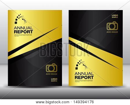 Gold Cover template, annual report, business brochure flyer, magazine cover template, cover design,layout vector book cover, booklet, advertisement, presentation, catalog ,background