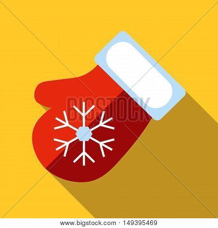 Santa mitten christmas star icon vector illustration
