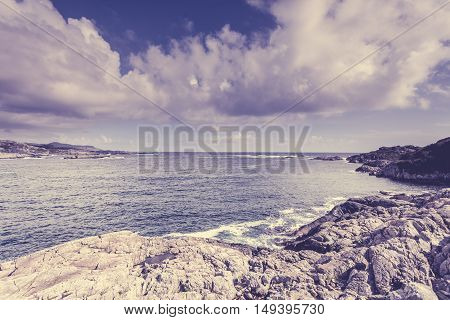 The Coast Of Southern Norway With An Ocean View