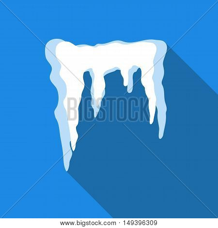 Icicles icon in flat style isolated with long shadow vector illustration