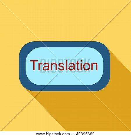 Translate button icon in flat style isolated with long shadow vector illustration