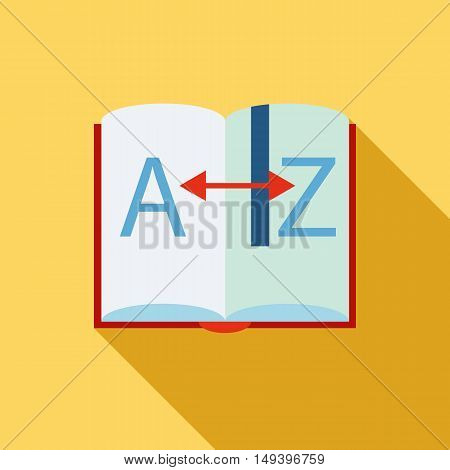 Learning foreign languages icon in flat style isolated with long shadow vector illustration