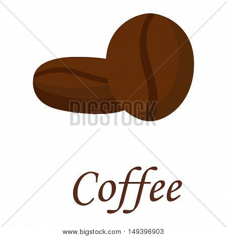 Coffee beans vector illustration black espresso natural aroma breakfast. Caffeine beverage cafe food coffee beans roasted dark ingredient. Natural aroma coffee beans agriculture energy.