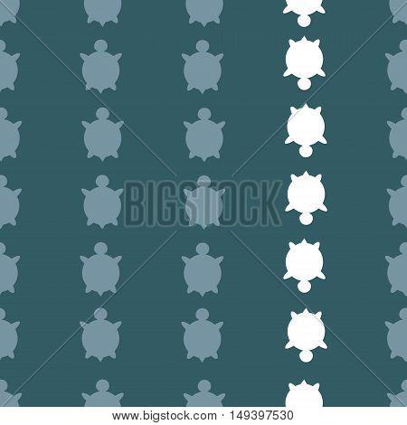 Vector Seamless Turtle Pattern