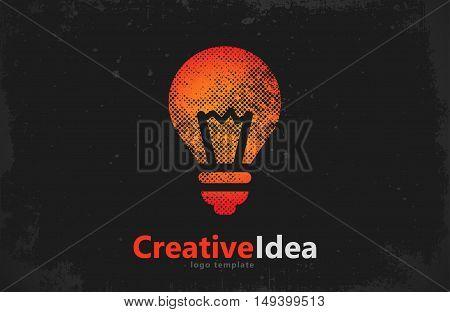 Lightbulb logo template. Lightbulb icon. Abstract lightbulb logo. Creative logo template