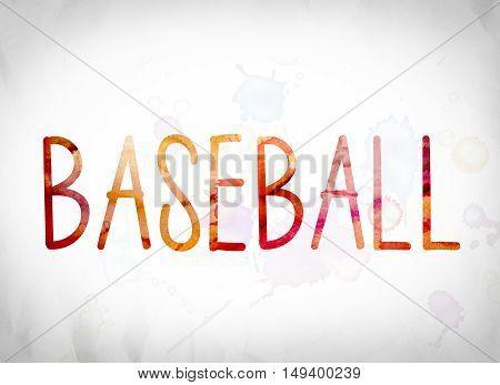 Baseball Concept Watercolor Word Art