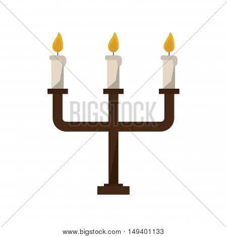 Chandelier with candles icon. Light decoration and celebration theme. Isolated design. Vector illustration