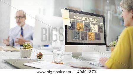 Advertisement Online Marketing Commerce Concept