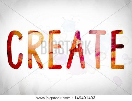 Create Concept Watercolor Word Art