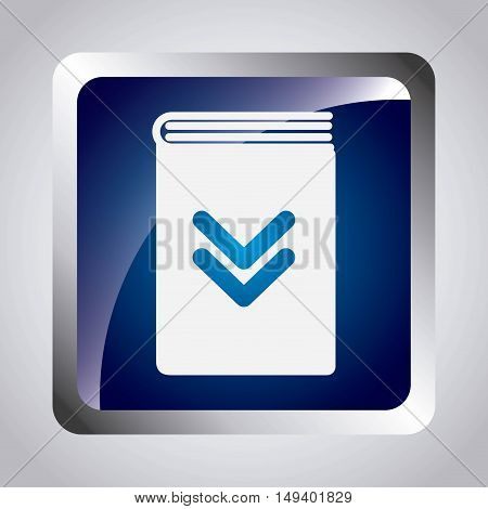 arrow download file icon vector illustration design