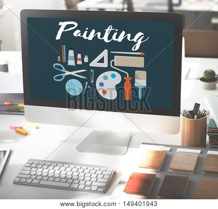 Painting Gallery Ideas Creativity Design Artistic Concept