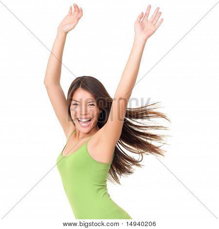 Carefree Joyful Woman