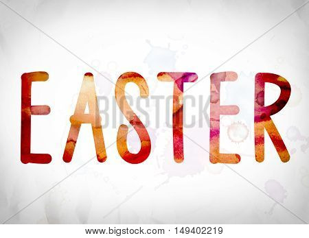 Easter Concept Watercolor Word Art