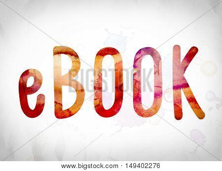Ebook Concept Watercolor Word Art