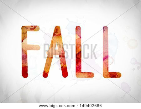 Fall Concept Watercolor Word Art